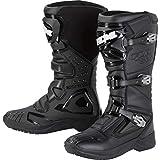 FLM Motorradschuhe, Motorradstiefel lang Enduro Stiefel 1.0 schwarz 43, Unisex, Enduro/Reiseenduro,...