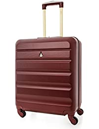 Aerolite 56x45x25 easyJet British Airways Jet2 Maximum Allowance 46L Lightweight Hard Shell Carry On Hand Cabin Luggage Travel Spinner Suitcase with 4 Wheels