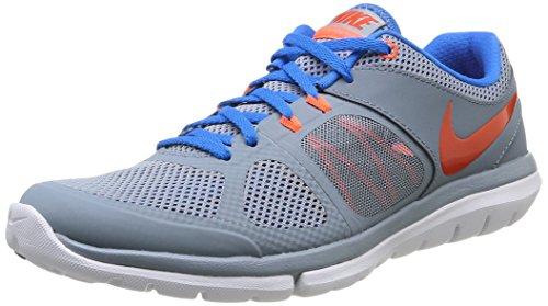 Nike Flex 2014 Rn 642791-017 Herren Sportschuhe Grau (MGNT GRY/TM ORNG-PHT BL-HYPR C)