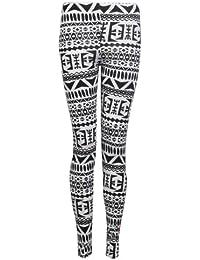 Fast Fashion - Leggings Pleine Longueur Imprimé Animal Tribal - Femme