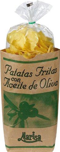 Kartoffelchips mit Olivenöl und Meersalz