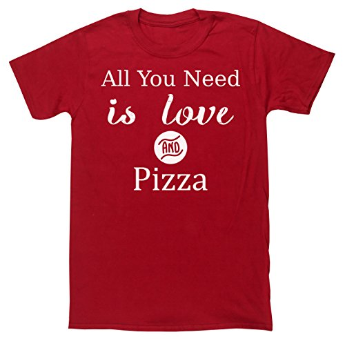 hippowarehouse-all-you-need-is-love-and-pizza-unisex-short-sleeve-t-shirt