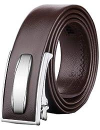 Yingsssq Cinturón con Hebilla automática para Hombres Cinturones Casuales  de Negocios (Color   Marrón 8b6786274cd5