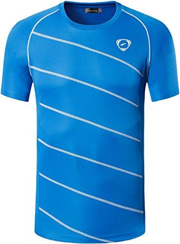 jeansian Herren Sportswear Quick Dry Short Sleeve T-Shirt LSL020 LSL116_Blue