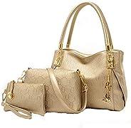 three-piece new winter womens handBag leather handBag Shoulder Messenger Bag