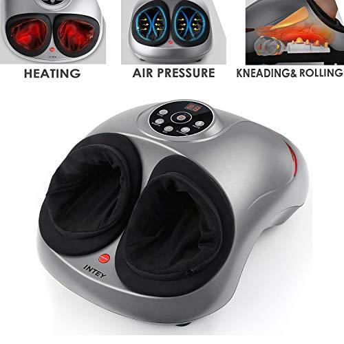 Intey Fumassagegert Mit Shiatsu Massage Lcd Anzeige3 Stufige Zeiteinstellung3 1 Modustast5 Stufige Luftdruckfestigkeit Fr Heimbro2 Automatikmodi