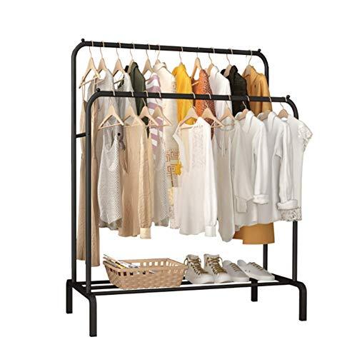 Steh- Falt Trockengestell - Indoor-Speicher Artefakt Kleiderbügel, Doppel-Bar-Haushalt Wäscheständer, Große Kapazität, Starke Ladung, Platzsparend,B
