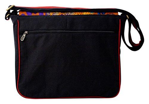 Sunsa Umhängetasche, Borsa a tracolla donna nero nero Größe ca.(BxHxT): 34,5x32x11 cm nero