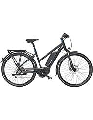 "FISCHER E-Bike TREKKING Damen ETD 1761, Mittelmotor 48 V/557 Wh ""Powered by BAFANG"", Navi (Teasi) und Shimano XT-Schaltwerk"