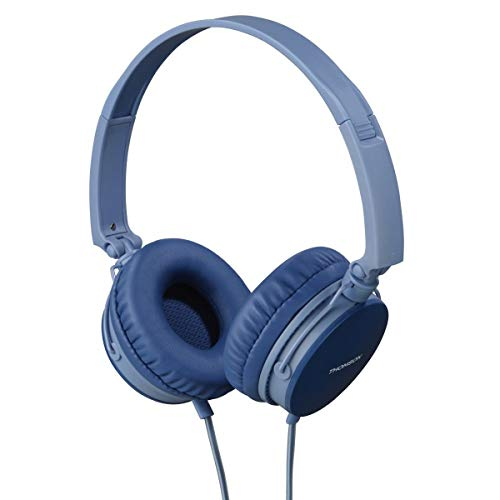 Thomson - Cuffia on-ear HED2207 BL, microfono, stereo, blu
