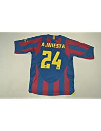 8143ff5962 BROOK A.Iniesta 8 Barcelona Home Retro Soccer Jersey 2006 Full UCL. Patch