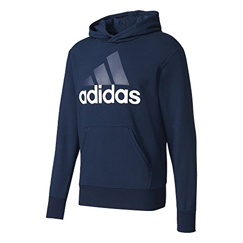 adidas Herren Essentials Linear P/O French Terry Hoodie, Collegiate Navy/White, M Terry Hoodie Sweatshirt