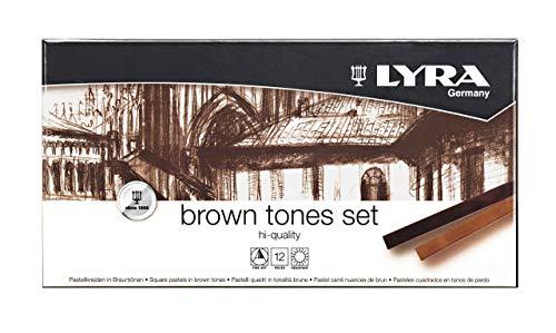 LYRA Brown Tones Pastellkreide, braun 17,4 x 9 x 2 cm, 12-Einheiten