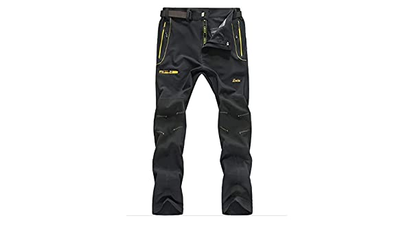 Chlyuan Pantalon de Travail de randonn/ée l/éger ext/érieur d/écontract/é /à s/échage Rapide pour Hommes