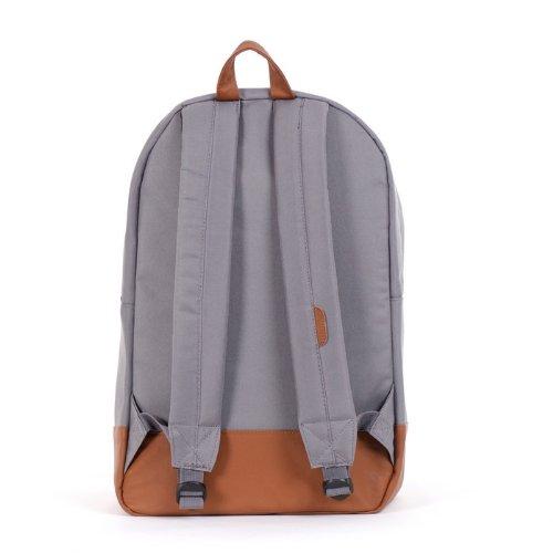 Herschel Heritage Rucksack, 46 cm, 21.5 L, Blue Grey/Tan Synthetic Leather Backpack