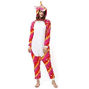 Katara- Kigurumi (10+ Modelos) Pijamas Animales Halloween Adultos, Color Unicornio Sol Naranja, Talla 175-185cm (1744)