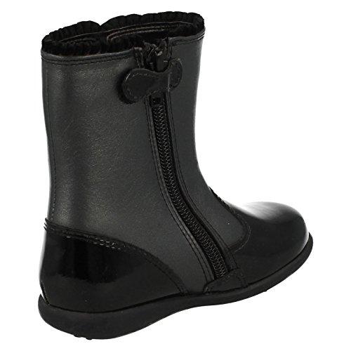 Rite Glisten Mädchen Boot 3 Black Patent