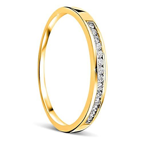 Orovi anello donna eternity con diamanti taglio brillante ct 0.10 in oro giallo 18 kt 750