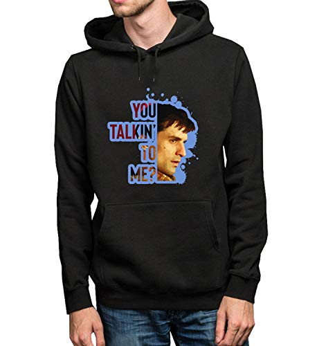 Taxi Driver Character Half Face Quote_R5440 Hoodie Capucha Sweater Pullover Sweatshirt Unisex Black Gift- L Black Hoodie