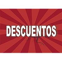 Cartel Descuentos | Varias Medidas 70 cm x 50 cm | Cartel publicitario Descuentos | Cartel Oferta Descuentos | Cartel Oportunidad Descuentos