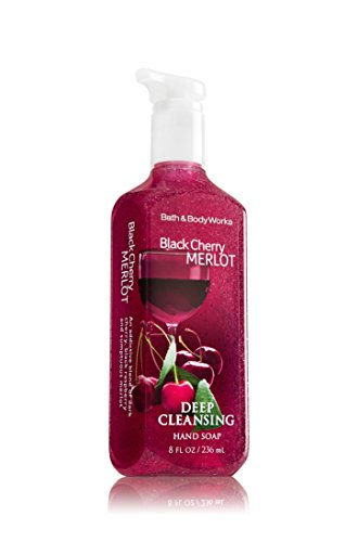 Bath & Body Works BLACK CHERRY MERLOT Deep Cleansing Hand Soap 8 oz / 236 mL (UK)