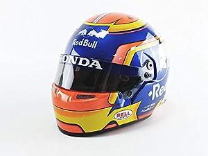 Mini Helmet 4100014 - Coche en Miniatura, Color Azul, Amarillo y Rojo