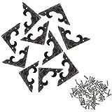Ruda - Protectores Decorativos de latón Envejecido para Manualidades, Caja de joyería de Madera,