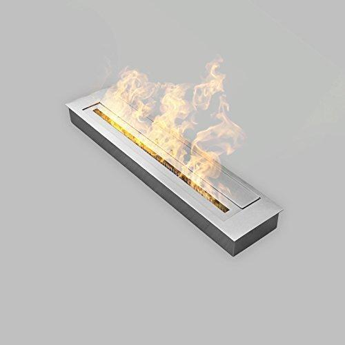 TÜV geprüft Edelstahl Brennkammer 0,4 bis 1,5 L  Größen für Bioethanol-Kamin
