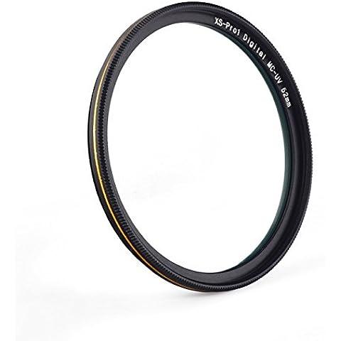 MC Filtro ultravioleta de 16 capas Ultra recubierto Ultra Violeta Filtro de lente de protección para Canon Nikon Sony DSLR