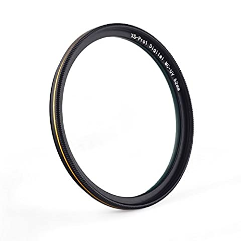 MC UV-Filter - Ultra Slim 16 Schichten Multi Coated Ultra Violet Schutz-Objektiv-Filter für Canon Nikon Sony DSLR-Objektiv (52mm)