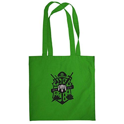 Texlab–Big Gaming Logo–sacchetto di stoffa Verde