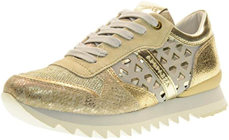 Apepazza Scarpe Donna scarpe da ginnastica Basse DLY20 MULTIDMD Donna oro | Qualità Affidabile  | Uomo/Donne Scarpa