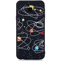 f9521a1dfb3 MOSORIS Funda para Samsung J4 Plus 2018, Carcasa Dibujo Suave Negro  Silicona Matte Caso Tapa