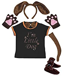 Petitebelle I'm Little Dog Shirt Headband Tie Glove Tail Shoes 6pc Costume from Petitebelle