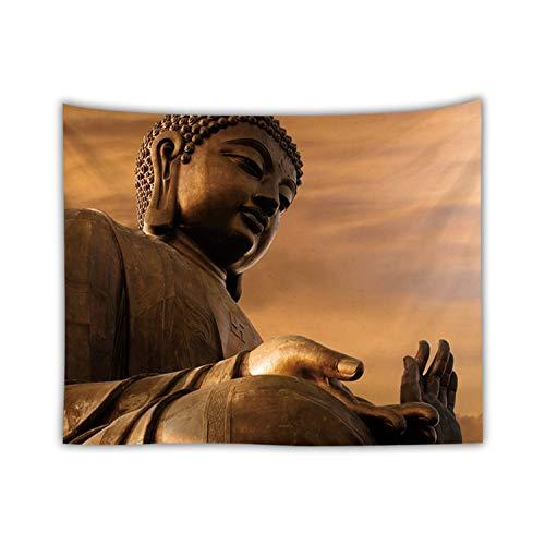 MiaoFan Alte Buddha gedruckt Tapestry Muster Wandbehang Startseite Bett Yoga Matte Blatt Tischdecke Strand Decke Wand BedspreadGT-258 (Color : 6, Size : 200 * 150)