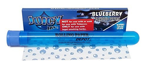 Juicy Jay's King Size Slim Rolling Papers - Blueberry Flavored - 1...