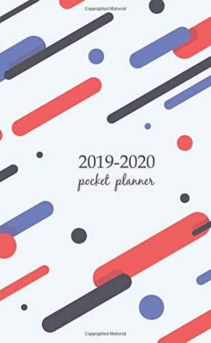 2019-2020 Pocket Planner: 2 Year Pocket Monthly Calenda Planner  Schedule Organizer Appointment Journal Notebook 4 x 6.5 inch And Covers with flat ... backgrounds (2 Year Pocket Monthly planners) por Creative art planner