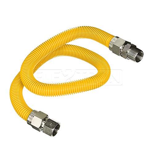 Flextron ftgc-yc34-36P 91,4cm Flexibler gelb Epoxy beschichtet Gas-Verbinder mit 2,5cm Durchmesser und 3/10,2cm FIP X 3/10,2cm MIP Armaturen, Edelstahl, Edelstahl -