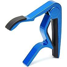 Capotasto Capo Blu in Metallo 8cm per Chitarra Acustica Elettrica Classica
