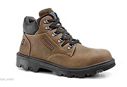 Secor Sherpa Waxy Brown Steel Toe Cap Mid Ankle Wide Fit Work...