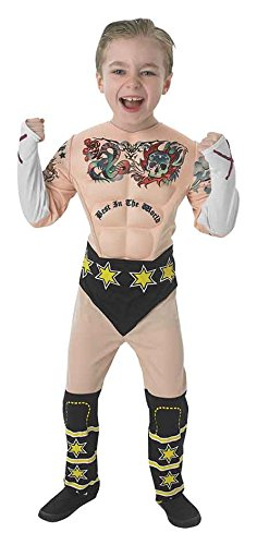 CM Punk (Muscle Chest) - Kids Costume 5 - 6 (Cm Punk Kostüm Kinder Für)