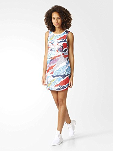 Adidas Tank Dress Robe Femme, Multicolore/Blanco, FR (Taille Fabricant : 40)