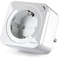 Devolo Home Control Schaltsteckdose/Messsteckdose 2.0 (schaltbare Steckdose mit Smart M Funktion, Z-Wave Hausautomation, Haussteuerung per iOS/Android App, Smart Home Aktor) Weiß, 1 Stück, 9914