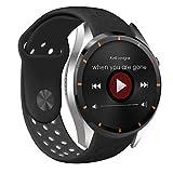 Lemumu Smart Watch MTK 6580 für Android 5.1 OS Bluetooth 4.0 Schrittzähler Herzfrequenzmesser mit Wlan GPS 3G Google spielen Smar twatch Telefon, Schwarz