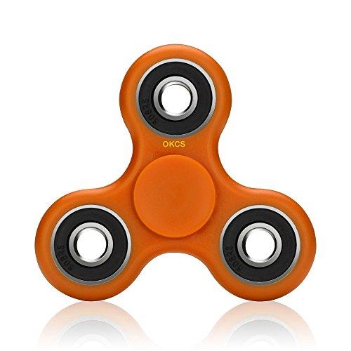 Preisvergleich Produktbild Fidget Spinner - OKCS - Spielzeug Tri Spinner Stresslöser Konzenztration - Orange