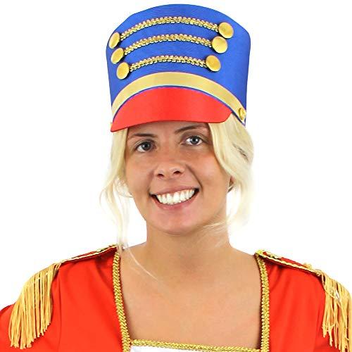 SPIELZEUG SOLDATIN HÜTE VARIATIONEN = DER NUSSKNACKER = DER HUT IST ZU ERHALTEN IN ROT/GOLD + BLAU/GOLD = VERSCHIEDENEN STÜCKZAHLEN = ZUBEHÖR FÜR FASCHING KARNEVAL +WEIHNACHTSFEIER = 2 HÜTE MIT ROTEM SCHIRM (Der Nussknacker Prinz Kostüm)
