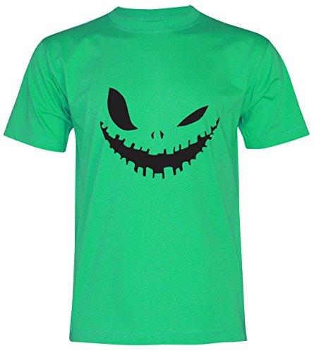PALLAS Unisex's Halloween Evil Smile T Shirt Green