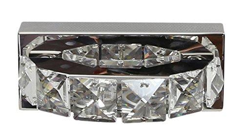 Preisvergleich Produktbild CANDELLUX Spiegelleuchte Kristall LED Badleuchte Spiegellampe Wandleuchte SHIPI