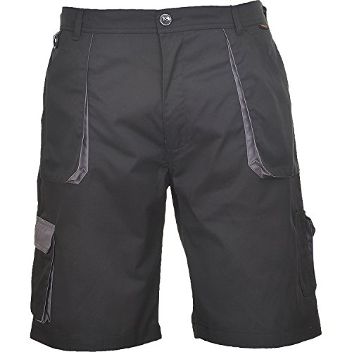 Portwest TX14BKRL Pantaloni Corti Texo Nero L