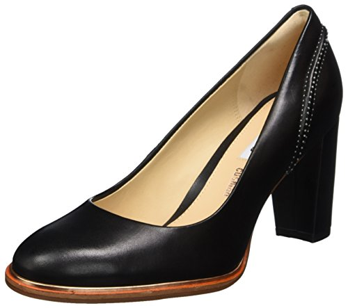 Clarks Damen Ellis Edith Pumps, Schwarz (Black Leather), 41.5 EU